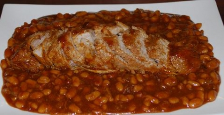 One Pot Roasted Pork Tenderloin With Bbq Baked Beans